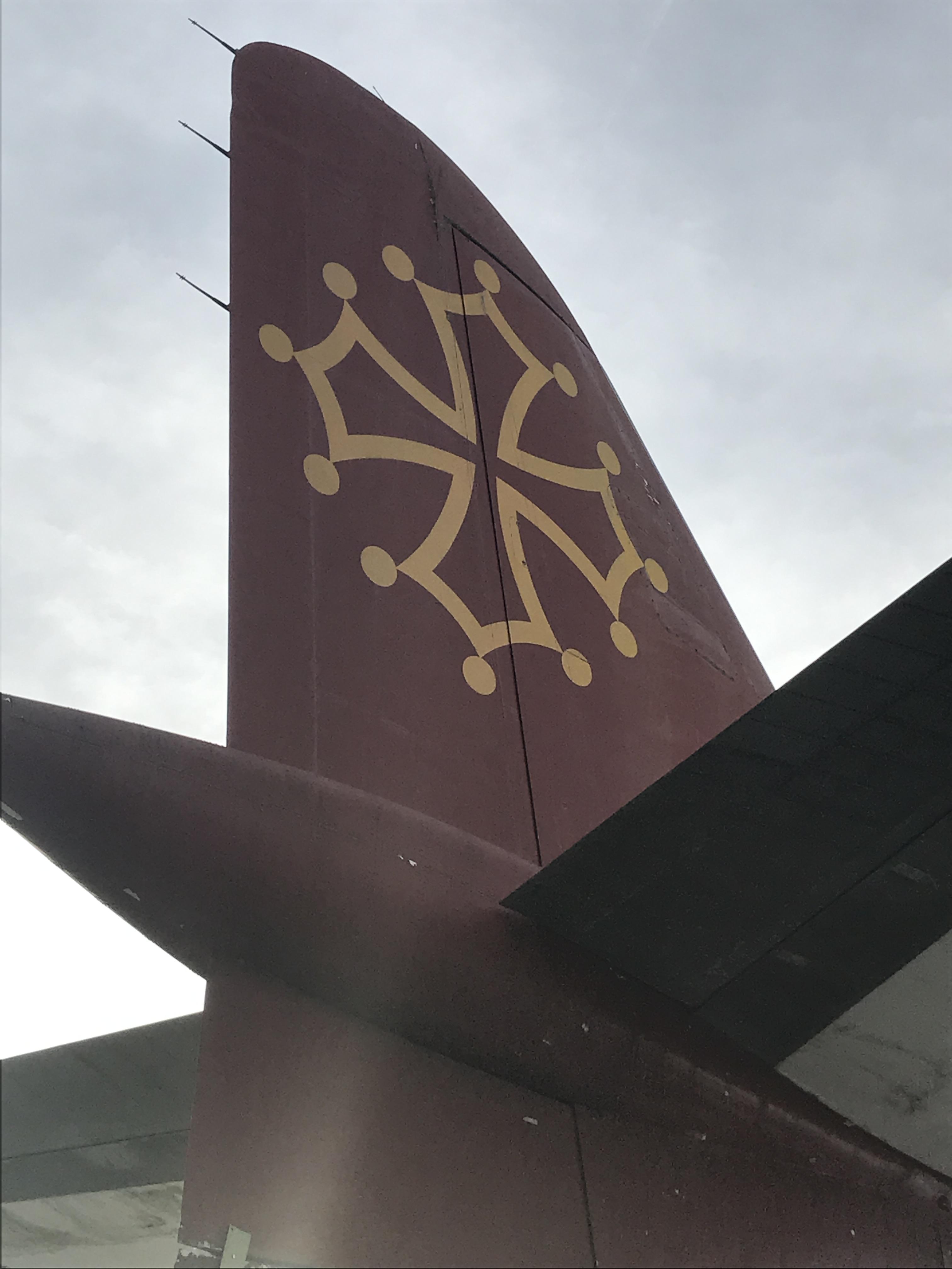 Empennage de la caravelle de Air Toulouse exposée aux Ailes Anciennes par Visit Digital